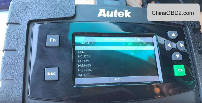 Autek iKey820 add a new key to Ford Explorer 2015 (AKL)