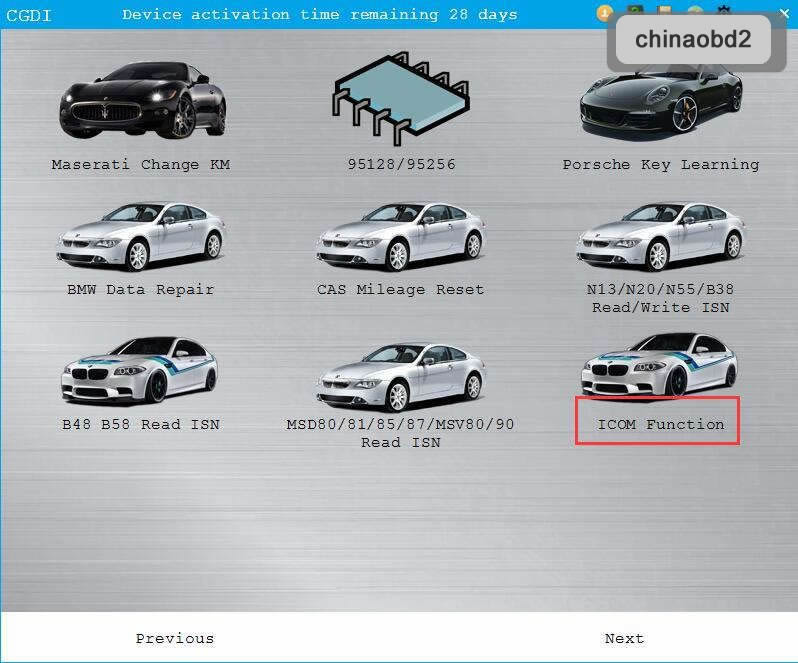 How to Enable CGDI BMW ICOM Function:ISTA,E_sys, EasyConnect