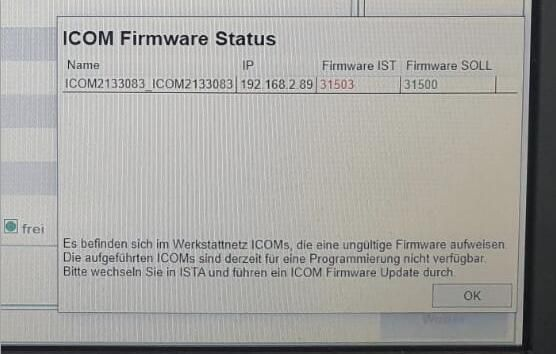 (Solved) ICOM Next Firmware is too new to work with ISTA-P